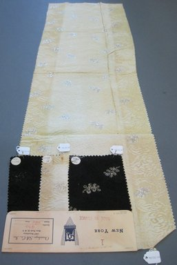 Onondaga Silk Company, Inc. (1925-1981). <em>Textile Swatches</em>, 1948-1959. silk; metal, largest component (a): 37 x 12 in. (94 x 30.5 cm). Brooklyn Museum, Gift of the Onondaga Silk Company, 64.130.68a-d (Photo: Brooklyn Museum, CUR.64.130.68a-d.jpg)