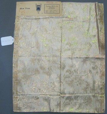 Onondaga Silk Company, Inc. (1925-1981). <em>Textile Swatches</em>, 1948-1959. silk and metal, 21 1/2 x 17 1/2 in. (54.6 x 44.5 cm). Brooklyn Museum, Gift of the Onondaga Silk Company, 64.130.7 (Photo: Brooklyn Museum, CUR.64.130.7.jpg)