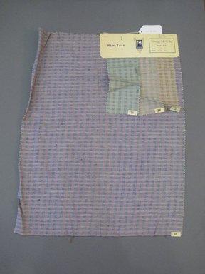 Onondaga Silk Company, Inc. (1925-1981). <em>Textile Swatches</em>, 1948-1959. Silk, 22 1/4 x 17 1/2 in. (56.5 x 44.5 cm). Brooklyn Museum, Gift of the Onondaga Silk Company, 64.130.702 (Photo: Brooklyn Museum, CUR.64.130.702.jpg)