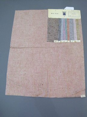Onondaga Silk Company, Inc. (1925-1981). <em>Textile Swatches</em>, 1948-1959. Silk, 23 1/4 x 18 1/2 in. (59.1 x 47 cm). Brooklyn Museum, Gift of the Onondaga Silk Company, 64.130.703 (Photo: Brooklyn Museum, CUR.64.130.703.jpg)