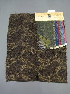 Onondaga Silk Company, Inc. (1925-1981). <em>Textile Swatches</em>, 1948-1959. 48% silk, 32% wool, 20% nylon, 20 1/2 x 17 in. (52.1 x 43.2 cm). Brooklyn Museum, Gift of the Onondaga Silk Company, 64.130.708 (Photo: Brooklyn Museum, CUR.64.130.708.jpg)