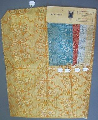 Onondaga Silk Company, Inc. (1925-1981). <em>Textile Swatches</em>, 1948-1959. 72% silk; 28% metal, largest component (a): 22 1/2 x 18 1/2 in. (57.2 x 47 cm). Brooklyn Museum, Gift of the Onondaga Silk Company, 64.130.75a-e (Photo: Brooklyn Museum, CUR.64.130.75a-e.jpg)