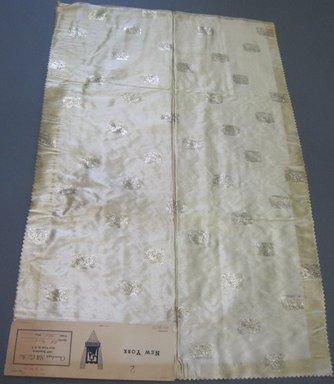 Onondaga Silk Company, Inc. (1925-1981). <em>Textile Swatches</em>, 1948-1959. 72% acetate; 16% rayon; 12% metal;, 28 x 18 in. (71.1 x 45.7 cm). Brooklyn Museum, Gift of the Onondaga Silk Company, 64.130.77 (Photo: Brooklyn Museum, CUR.64.130.77.jpg)