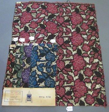 Onondaga Silk Company, Inc. (1925-1981). <em>Textile Swatches</em>, 1948-1959. 67% silk; 10% metal; 23% nylon, largest component (a): 22 x 18 in. (55.9 x 45.7 cm). Brooklyn Museum, Gift of the Onondaga Silk Company, 64.130.81a-e (Photo: Brooklyn Museum, CUR.64.130.81a-e.jpg)