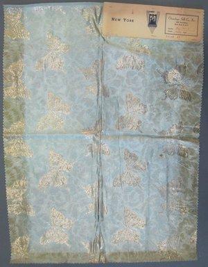 Onondaga Silk Company, Inc. (1925-1981). <em>Textile Swatches</em>, 1948-1959. 72% silk; 28% metal, 24 x 18 in. (61 x 45.7 cm). Brooklyn Museum, Gift of the Onondaga Silk Company, 64.130.85 (Photo: Brooklyn Museum, CUR.64.130.85.jpg)