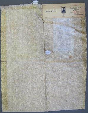 Onondaga Silk Company, Inc. (1925-1981). <em>Textile Swatches</em>, 1948-1959. 81% silk; 19% metal, largest component (a): 23 x 18 in. (58.4 x 45.7 cm). Brooklyn Museum, Gift of the Onondaga Silk Company, 64.130.89a-b (Photo: Brooklyn Museum, CUR.64.130.89a-b.jpg)