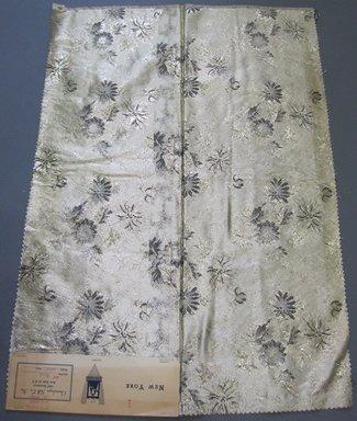Onondaga Silk Company, Inc. (1925-1981). <em>Textile Swatches</em>, 1948-1959. 72% acetate; 16% rayon; 12% metal, 26 x 18 in. (66 x 45.7 cm). Brooklyn Museum, Gift of the Onondaga Silk Company, 64.130.91 (Photo: Brooklyn Museum, CUR.64.130.91.jpg)