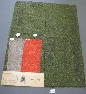 Onondaga Silk Company, Inc. (1925-1981). <em>Textile Swatches</em>, 1948-1959. 54% silk; 36% wool; 10% metal, largest component (a): 23 x 18 in. (58.4 x 45.7 cm). Brooklyn Museum, Gift of the Onondaga Silk Company, 64.130.92 (Photo: Brooklyn Museum, CUR.64.130.92a-c.jpg)