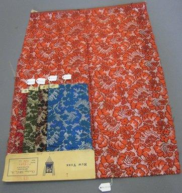 Onondaga Silk Company, Inc. (1925-1981). <em>Textile Swatches</em>, 1948-1959. 54% silk; 36% wool; 10% metal, largest component (a): 23 x 16 in. (58.4 x 40.6 cm). Brooklyn Museum, Gift of the Onondaga Silk Company, 64.130.94a-e (Photo: Brooklyn Museum, CUR.64.130.94a-e.jpg)