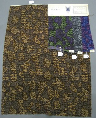 Onondaga Silk Company, Inc. (1925-1981). <em>Textile Swatches</em>, 1948-1959. cotton, largest component (a): 24 x 18 in. (61 x 45.7 cm). Brooklyn Museum, Gift of the Onondaga Silk Company, 64.130.99a-d (Photo: Brooklyn Museum, CUR.64.130.99a-d.jpg)
