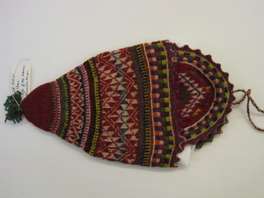 Quechua. <em>Hat</em>. Camelid fiber? wool?, 8 1/8 × 15 in. (20.6 × 38.1 cm). Brooklyn Museum, Gift of Dr. Werner Muensterberger, 64.210.11. Creative Commons-BY (Photo: , CUR.64.210.11.jpg)