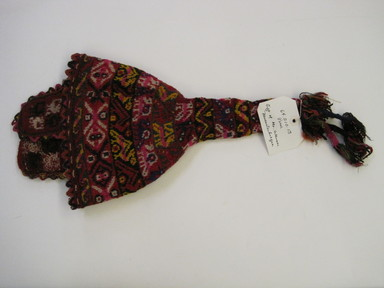 Quechua. <em>Hat</em>. Camelid fiber? wool?, 9 9/16 × 22 in. (24.3 × 55.9 cm). Brooklyn Museum, Gift of Dr. Werner Muensterberger, 64.210.13. Creative Commons-BY (Photo: , CUR.64.210.13.jpg)