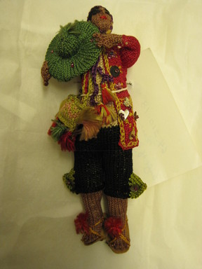 Quechua. <em>Doll</em>. Cotton, leather, sequins, Height: 5 1/2 in. (14 cm). Brooklyn Museum, Gift of Dr. Werner Muensterberger, 64.210.18. Creative Commons-BY (Photo: Brooklyn Museum, CUR.64.210.18.jpg)