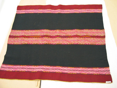Possibly Quechua. <em>Shawl</em>, 20th century. Camelid fiber, 29 1/2 x 33 1/2 in. (74.9 x 85.1 cm). Brooklyn Museum, Gift of Dr. Werner Muensterberger, 64.210.7. Creative Commons-BY (Photo: Brooklyn Museum, CUR.64.210.7.jpg)