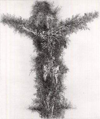 Gabor Peterdi (American, born Hungary, 1915-2001). <em>Resurrection  II</em>, 1963. Etching and engraving on paper, 23 3/4 x 19 3/4 in. (60.3 x 50.2 cm). Brooklyn Museum, Dick S. Ramsay Fund, 64.28. © artist or artist's estate (Photo: Brooklyn Museum, CUR.64.28.jpg)