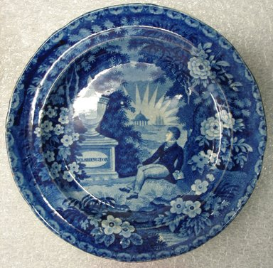 <em>Plate</em>, ca. 1830. Earthenware, 3/4 x 7 3/8 x 7 3/8 in. (1.9 x 18.7 x 18.7 cm). Brooklyn Museum, Gift of the Estate of Emily Winthrop Miles, 64.82.259. Creative Commons-BY (Photo: Brooklyn Museum, CUR.64.82.259.jpg)