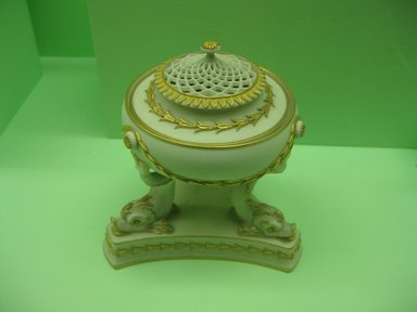 Josiah Wedgwood & Sons Ltd. (founded 1759). <em>Pastille Burner</em>. Porcelain Brooklyn Museum, Gift of the Estate of Emily Winthrop Miles, 64.82.34. Creative Commons-BY (Photo: Brooklyn Museum, CUR.64.82.34.jpg)