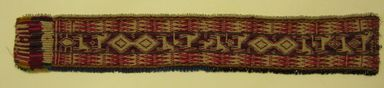 Quechua. <em>Headband</em>, ca. 1965. Tapestry, beads, wool, 18 1/8 x 2 15/16 in. (46.0 x 7.5 cm). Brooklyn Museum, Gift of Mr. and Mrs. Tessim Zorach, 65.152. Creative Commons-BY (Photo: Brooklyn Museum, CUR.65.152_view1.jpg)