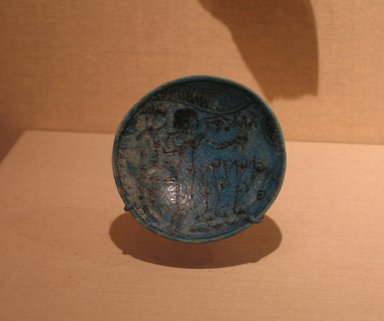 <em>Bowl</em>, ca. 1295-1185 B.C.E. Faience Brooklyn Museum, Charles Edwin Wilbour Fund, 66.172. Creative Commons-BY (Photo: Brooklyn Museum, CUR.66.172_wwg8.jpg)