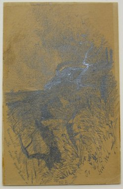 Unknown. <em>November Comes with Wind and Rain</em>, 1866. Graphite on paper, sheet: 4 7/8 x 3 3/16 in. (12.4 x 8.1 cm). Brooklyn Museum, Gift of Frederick Baekeland, 66.235 (Photo: Brooklyn Museum, CUR.66.235.jpg)