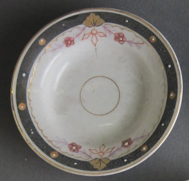 <em>Child's Soup Plate</em>, ca.1880. Porcelain, 7/8 x 3 3/8 in. (2.2 x 8.6 cm). Brooklyn Museum, Gift of Amelia Beard Hollenback, 66.25.18. Creative Commons-BY (Photo: Brooklyn Museum, CUR.66.25.18.jpg)