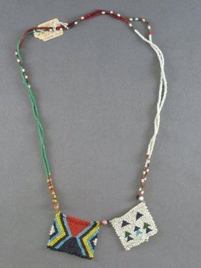 Zulu. <em>Neck Ornament</em>, 19th to 20th century. Glass beads, natural fiber, 30 3/4 in. (78.1cm). Brooklyn Museum, Gift of Mr. and Mrs. Jerome Blum, 66.86.19. Creative Commons-BY (Photo: Brooklyn Museum, CUR.66.86.19_overall.jpg)