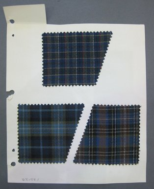 Fab-Tex Inc.. <em>Fabric Swatch</em>, 1963-1966. Synthetic or Cotton and Synthetic blend, Sheet: 8 1/4 x 10 1/2 in. (21 x 26.7 cm). Brooklyn Museum, Gift of Fab-Tex Inc., 67.158.1 (Photo: Brooklyn Museum, CUR.67.158.1.jpg)
