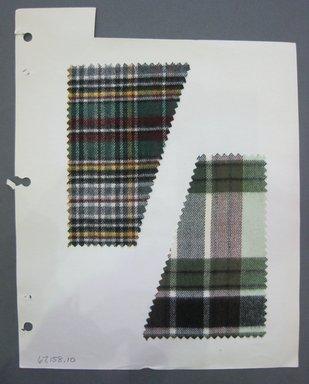 Fab-Tex Inc.. <em>Fabric Swatch</em>, 1963-1966. Cotton, sheet: 8 1/4 x 10 1/2 in. (21 x 26.7 cm). Brooklyn Museum, Gift of Fab-Tex Inc., 67.158.10 (Photo: Brooklyn Museum, CUR.67.158.10.jpg)
