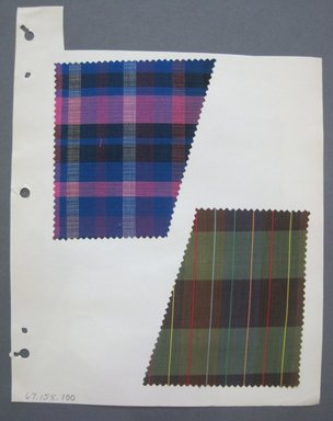 Fab-Tex Inc.. <em>Fabric Swatch</em>, 1963-1966. Cotton, sheet: 8 1/4 x 10 1/2 in. (21 x 26.7 cm). Brooklyn Museum, Gift of Fab-Tex Inc., 67.158.100 (Photo: Brooklyn Museum, CUR.67.158.100.jpg)