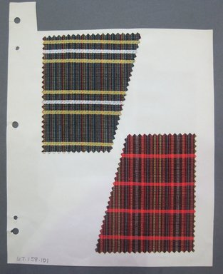 Fab-Tex Inc.. <em>Fabric Swatch</em>, 1963-1966. Silk, sheet: 8 1/4 x 10 1/2 in. (21 x 26.7 cm). Brooklyn Museum, Gift of Fab-Tex Inc., 67.158.101 (Photo: Brooklyn Museum, CUR.67.158.101.jpg)