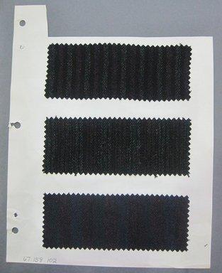 Fab-Tex Inc.. <em>Fabric Swatch</em>, 1963-1966. Wool, sheet: 8 1/4 x 10 1/2 in. (21 x 26.7 cm). Brooklyn Museum, Gift of Fab-Tex Inc., 67.158.102 (Photo: Brooklyn Museum, CUR.67.158.102.jpg)