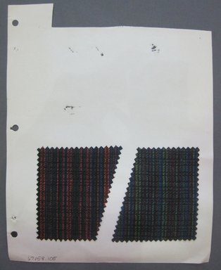 Fab-Tex Inc.. <em>Fabric Swatch</em>, 1963-1966. Wool, sheet: 8 1/4 x 10 1/2 in. (21 x 26.7 cm). Brooklyn Museum, Gift of Fab-Tex Inc., 67.158.105 (Photo: Brooklyn Museum, CUR.67.158.105.jpg)
