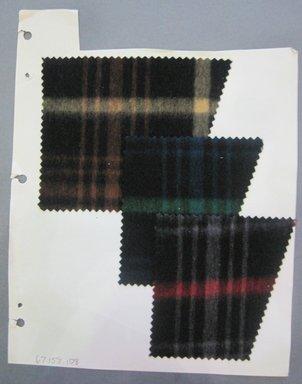 Fab-Tex Inc.. <em>Fabric Swatch</em>, 1963-1966. Wool, sheet: 8 1/4 x 10 1/2 in. (21 x 26.7 cm). Brooklyn Museum, Gift of Fab-Tex Inc., 67.158.108 (Photo: Brooklyn Museum, CUR.67.158.108.jpg)