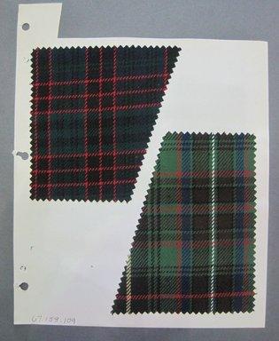 Fab-Tex Inc.. <em>Fabric Swatch</em>, 1963-1966. Wool, sheet: 5 x 5 in. (12.7 x 12.7 cm). Brooklyn Museum, Gift of Fab-Tex Inc., 67.158.109 (Photo: Brooklyn Museum, CUR.67.158.109.jpg)
