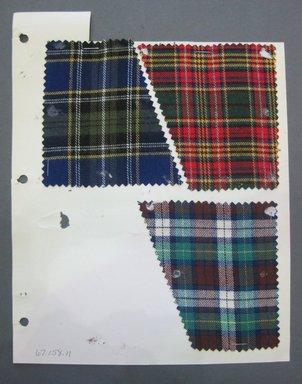Fab-Tex Inc.. <em>Fabric Swatch</em>, 1963-1966. Cotton, sheet: 8 1/4 x 10 1/2 in. (21 x 26.7 cm). Brooklyn Museum, Gift of Fab-Tex Inc., 67.158.11 (Photo: Brooklyn Museum, CUR.67.158.11.jpg)