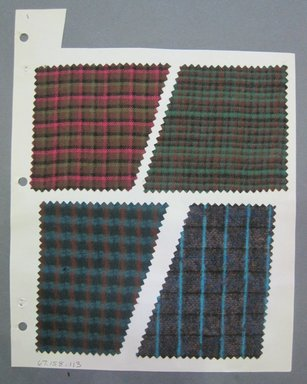 Fab-Tex Inc.. <em>Fabric Swatch</em>, 1963-1966. Cotton and wool, sheet: 8 1/4 x 10 1/2 in. (21 x 26.7 cm). Brooklyn Museum, Gift of Fab-Tex Inc., 67.158.113 (Photo: Brooklyn Museum, CUR.67.158.113.jpg)