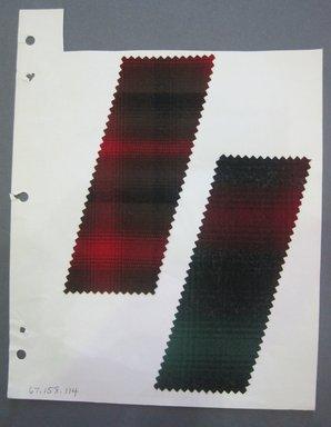 Fab-Tex Inc.. <em>Fabric Swatch</em>, 1963-1966. Wool, sheet: 8 1/4 x 10 1/2 in. (21 x 26.7 cm). Brooklyn Museum, Gift of Fab-Tex Inc., 67.158.114 (Photo: Brooklyn Museum, CUR.67.158.114.jpg)