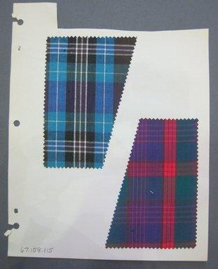 Fab-Tex Inc.. <em>Fabric Swatch</em>, 1963-1966. Cotton, sheet: 8 1/4 x 10 1/2 in. (21 x 26.7 cm). Brooklyn Museum, Gift of Fab-Tex Inc., 67.158.115 (Photo: Brooklyn Museum, CUR.67.158.115.jpg)