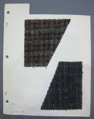 Fab-Tex Inc.. <em>Fabric Swatch</em>, 1963-1966. Wool, sheet: 8 1/4 x 10 1/2 in. (21 x 26.7 cm). Brooklyn Museum, Gift of Fab-Tex Inc., 67.158.120 (Photo: Brooklyn Museum, CUR.67.158.120.jpg)