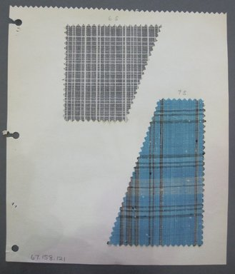 Fab-Tex Inc.. <em>Fabric Swatch</em>, 1963-1966. Synthetic?, sheet: 8 1/4 x 9 1/2 in. (21 x 24.1 cm). Brooklyn Museum, Gift of Fab-Tex Inc., 67.158.121 (Photo: Brooklyn Museum, CUR.67.158.121.jpg)