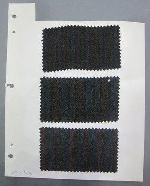 Fab-Tex Inc.. <em>Fabric Swatch</em>, 1963-1966. Wool, sheet: 8 1/4 x 10 1/2 in. (21 x 26.7 cm). Brooklyn Museum, Gift of Fab-Tex Inc., 67.158.122 (Photo: Brooklyn Museum, CUR.67.158.122.jpg)