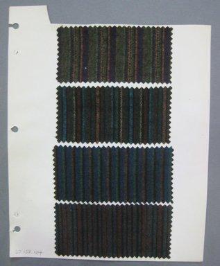 Fab-Tex Inc.. <em>Fabric Swatch</em>, 1963-1966. Wool, sheet: 8 1/4 x 10 1/2 in. (21 x 26.7 cm). Brooklyn Museum, Gift of Fab-Tex Inc., 67.158.124 (Photo: Brooklyn Museum, CUR.67.158.124.jpg)