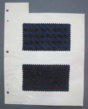 Fab-Tex Inc.. <em>Fabric Swatch</em>, 1963-1966. Wool, sheet: 8 1/4 x 10 1/2 in. (21 x 26.7 cm). Brooklyn Museum, Gift of Fab-Tex Inc., 67.158.126 (Photo: Brooklyn Museum, CUR.67.158.126.jpg)