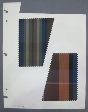 Fab-Tex Inc.. <em>Fabric Swatch</em>, 1963-1966. Cotton, sheet: 8 1/4 x 10 1/2 in. (21 x 26.7 cm). Brooklyn Museum, Gift of Fab-Tex Inc., 67.158.129 (Photo: Brooklyn Museum, CUR.67.158.129.jpg)