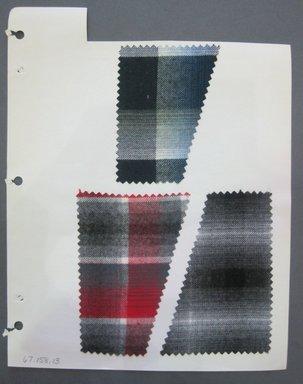 Fab-Tex Inc.. <em>Fabric Swatch</em>, 1963-1966. Cotton, sheet: 8 1/4 x 10 1/2 in. (21 x 26.7 cm). Brooklyn Museum, Gift of Fab-Tex Inc., 67.158.13 (Photo: Brooklyn Museum, CUR.67.158.13.jpg)