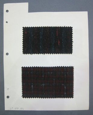 Fab-Tex Inc.. <em>Fabric Swatch</em>, 1963-1966. Wool, sheet: 8 1/4 x 10 1/2 in. (21 x 26.7 cm). Brooklyn Museum, Gift of Fab-Tex Inc., 67.158.131 (Photo: Brooklyn Museum, CUR.67.158.131.jpg)