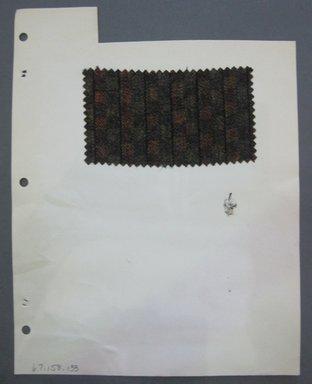 Fab-Tex Inc.. <em>Fabric Swatch</em>, 1963-1966. Wool, sheet: 8 1/4 x 10 1/2 in. (21 x 26.7 cm). Brooklyn Museum, Gift of Fab-Tex Inc., 67.158.133 (Photo: Brooklyn Museum, CUR.67.158.133.jpg)