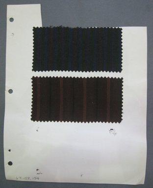 Fab-Tex Inc.. <em>Fabric Swatch</em>, 1963-1966. Cotton, sheet: 8 1/4 x 10 1/2 in. (21 x 26.7 cm). Brooklyn Museum, Gift of Fab-Tex Inc., 67.158.134 (Photo: Brooklyn Museum, CUR.67.158.134.jpg)