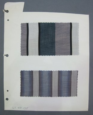Fab-Tex Inc.. <em>Fabric Swatch</em>, 1963-1966. Cotton, sheet: 8 1/4 x 10 1/2 in. (21 x 26.7 cm). Brooklyn Museum, Gift of Fab-Tex Inc., 67.158.135 (Photo: Brooklyn Museum, CUR.67.158.135.jpg)