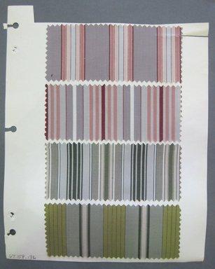 Fab-Tex Inc.. <em>Fabric Swatch</em>, 1963-1966. Cotton and silk, sheet: 8 1/4 x 10 1/2 in. (21 x 26.7 cm). Brooklyn Museum, Gift of Fab-Tex Inc., 67.158.136 (Photo: Brooklyn Museum, CUR.67.158.136.jpg)